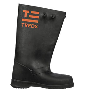 Overboots ,L,Pull On, 17in H,BI