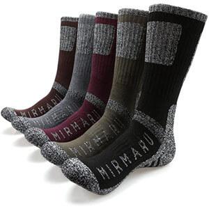 MIRMARU Men's 5 Pairs Multi Performance Crew Socks