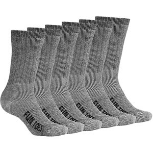 FUN TOES Men's Merino Wool Socks 6 PAIRS Value