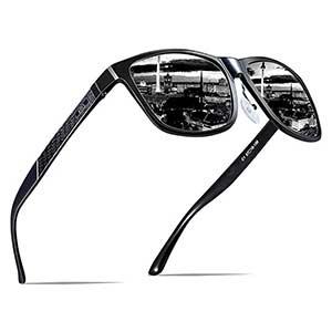 ATTCL Men's Hot Retro Metal Frame Driving Polarized Wayfarer Sunglasses