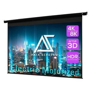 Akia Screens 104 inch Motorized Electric