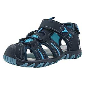 Apakowa Kid's Boy's Girl's Soft Sole Close Toe Sport Beach Sandals