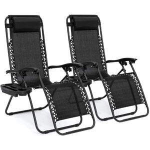 Best Choice Products Set of 2 Adjustable Zero Gravity Lounge Chair