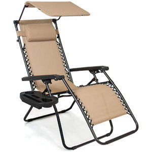 Best Choice Products Zero Gravity Canopy Sunshade Lounge Chair