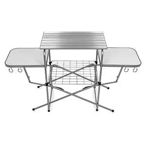 Camco Deluxe Folding Grill Table, Great for Picnics, Tailgating, Camping, RVing and Backyards
