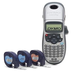 DYMO Label Maker with 3 Bonus Labeling Tapes   LetraTag 100H Handheld