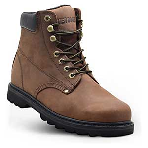 """EVER BOOTS """"Tank"""" Men's Soft Toe Oil Full Grain Leather Work Boots"""