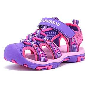 HOBIBEAR Boys Girls Sport Water Sandals Closed-Toe Outdoor
