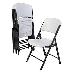 Lifetime 42804 Folding Chair, White Granite