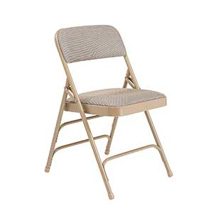 National Public Seating Series Steel Frame Upholstered Premium Fabric Seat and Back Folding Chair