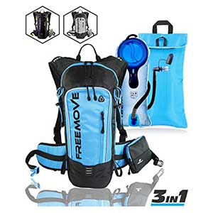 No.1 Hydration Pack Backpack with 2L Water Bladder