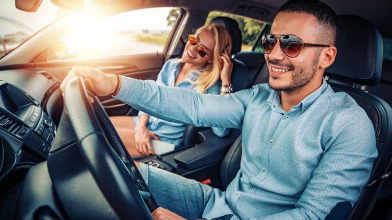Use a driving sunglass