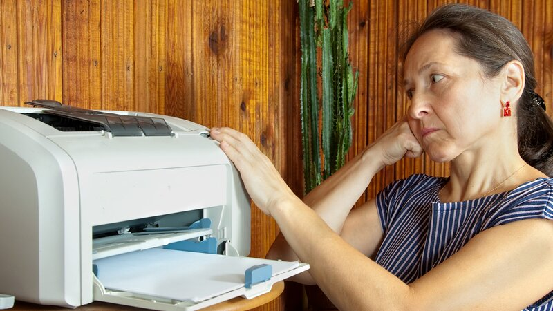 Printer not printing text